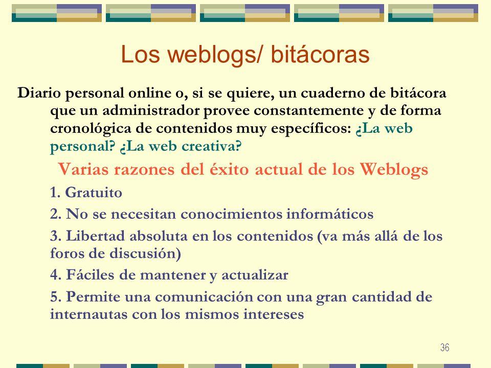 Los weblogs/ bitácoras