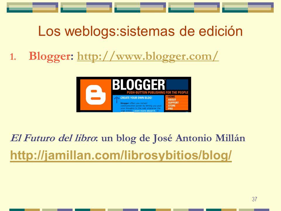 Los weblogs:sistemas de edición