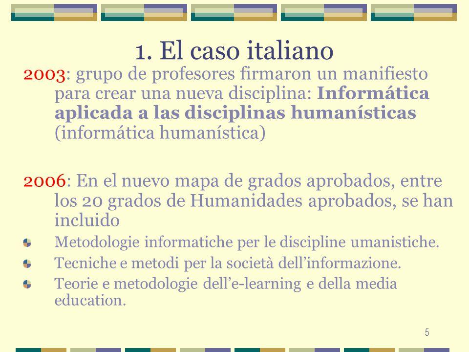 1. El caso italiano