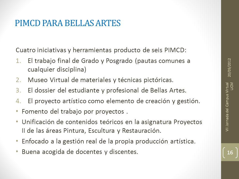 PIMCD PARA BELLAS ARTES