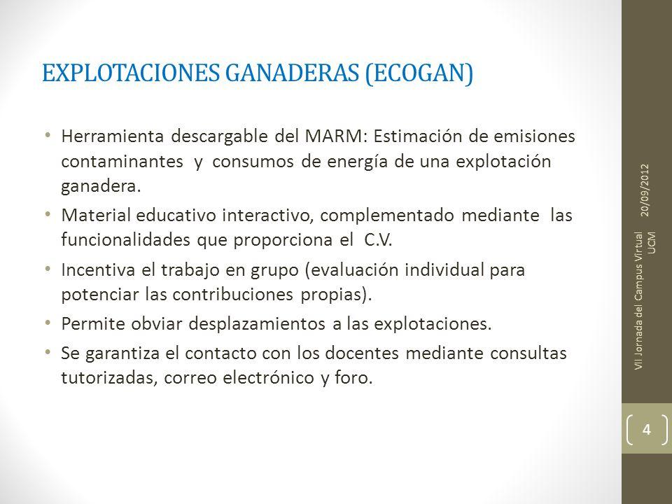 EXPLOTACIONES GANADERAS (ECOGAN)