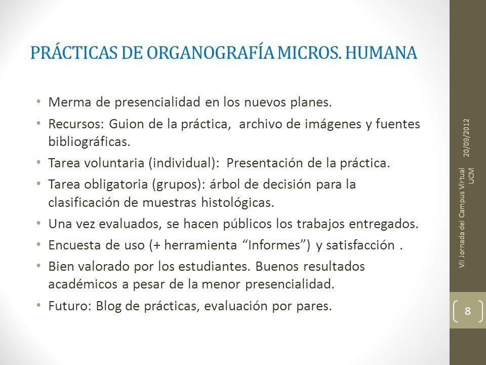 PRÁCTICAS DE ORGANOGRAFÍA MICROS. HUMANA