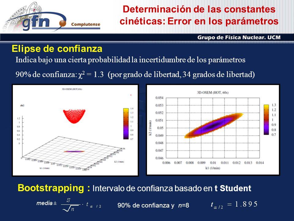 Determinación de las constantes cinéticas: Error en los parámetros