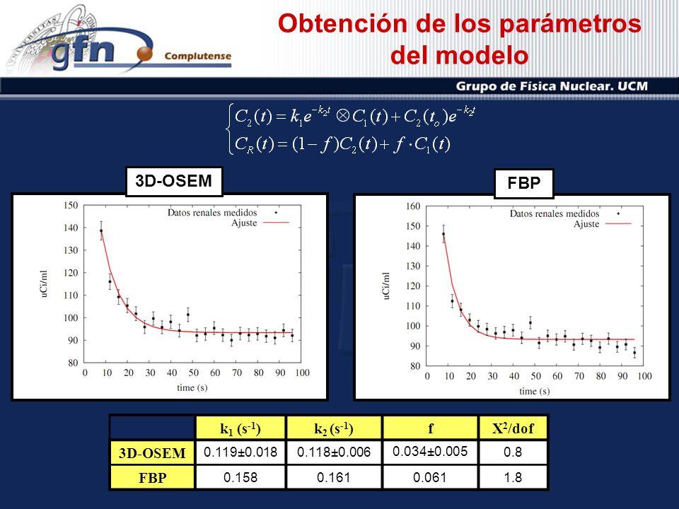 Obtención de los parámetros del modelo