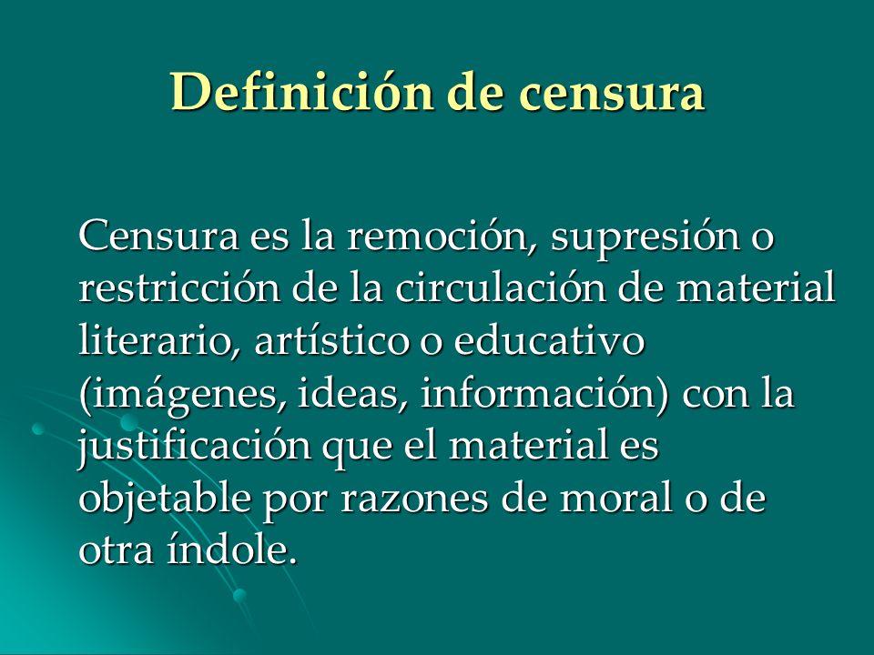 Definición de censura