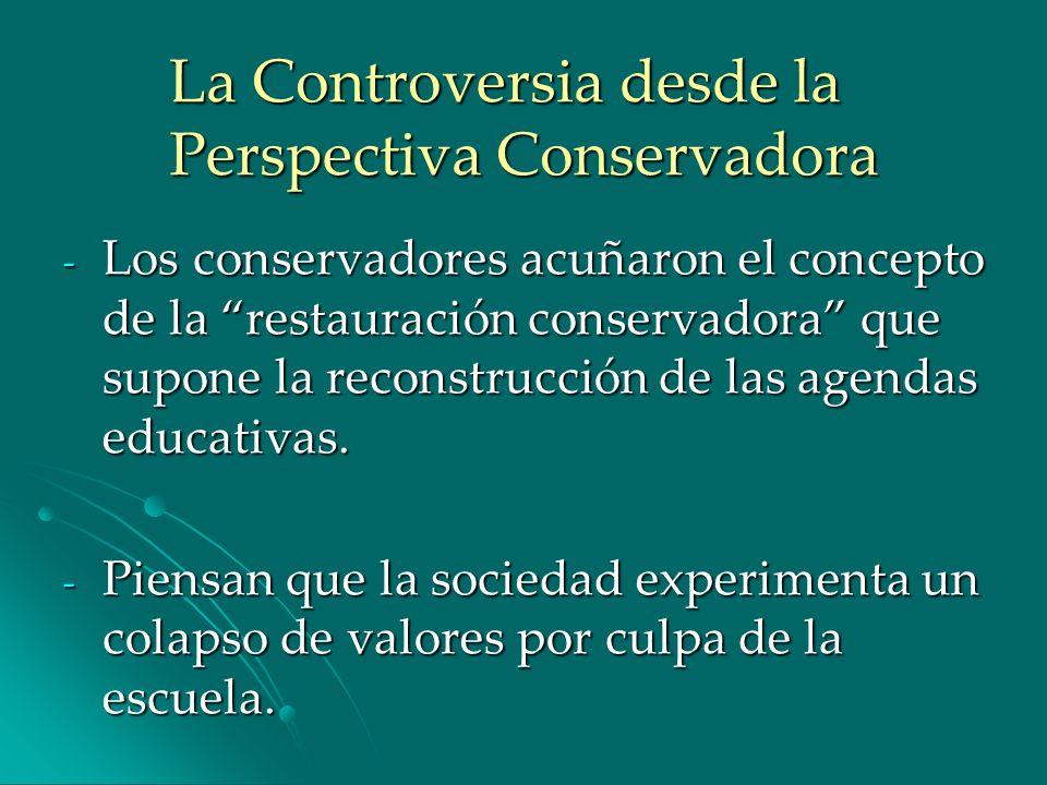 La Controversia desde la Perspectiva Conservadora