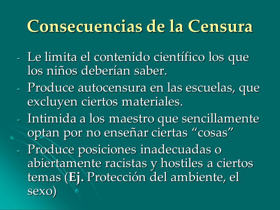 Consecuencias de la Censura