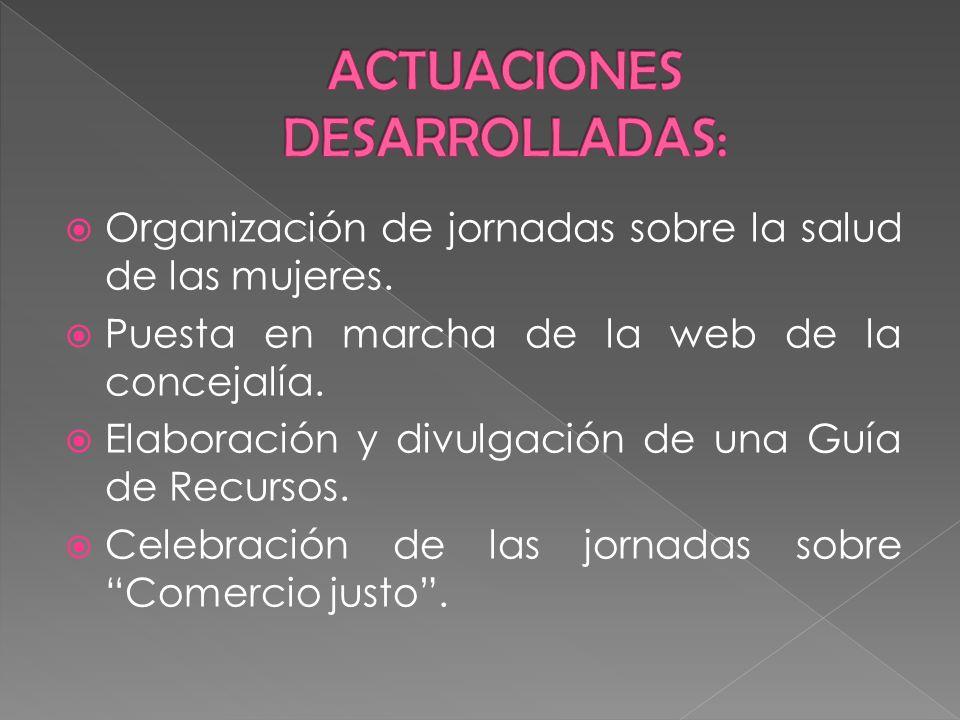 ACTUACIONES DESARROLLADAS: