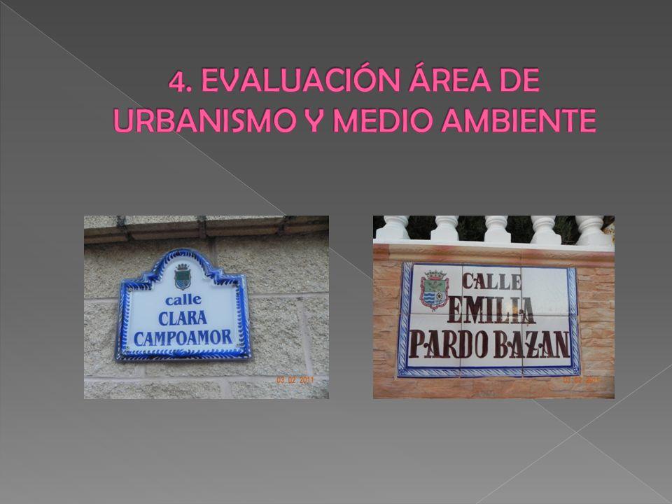 4. EVALUACIÓN ÁREA DE URBANISMO Y MEDIO AMBIENTE