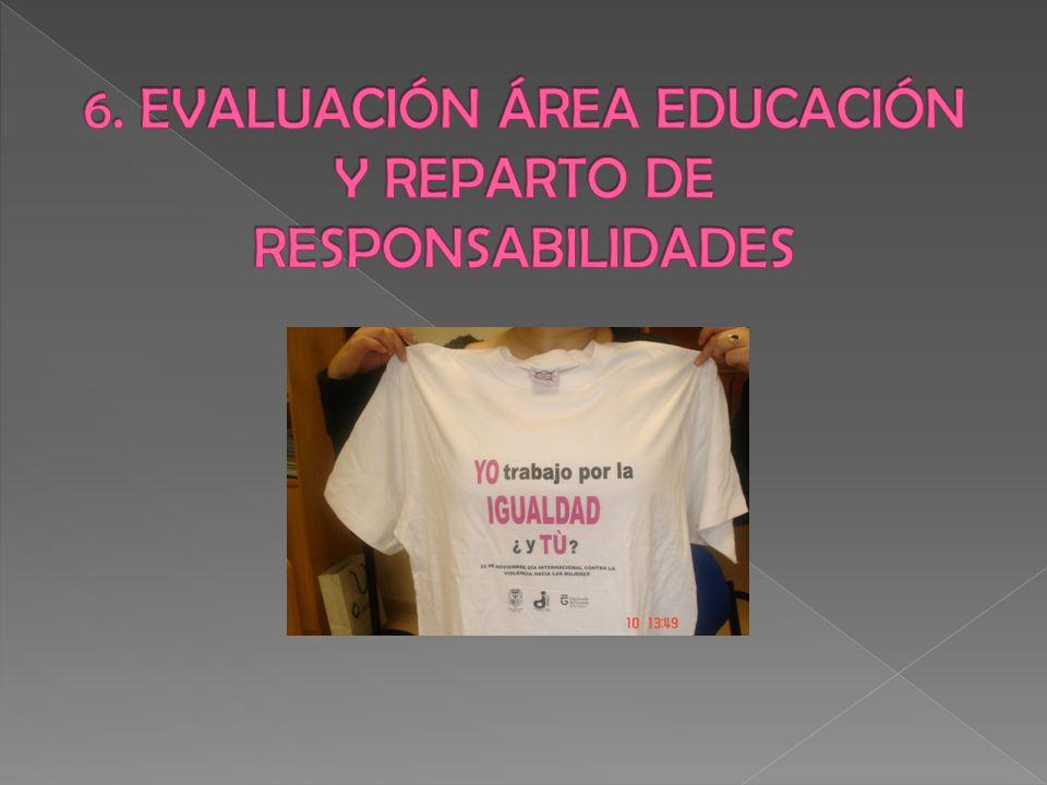 6. EVALUACIÓN ÁREA EDUCACIÓN Y REPARTO DE RESPONSABILIDADES