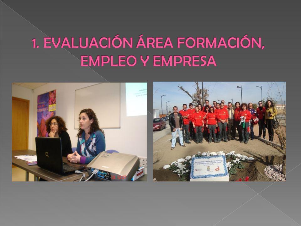 1. EVALUACIÓN ÁREA FORMACIÓN, EMPLEO Y EMPRESA