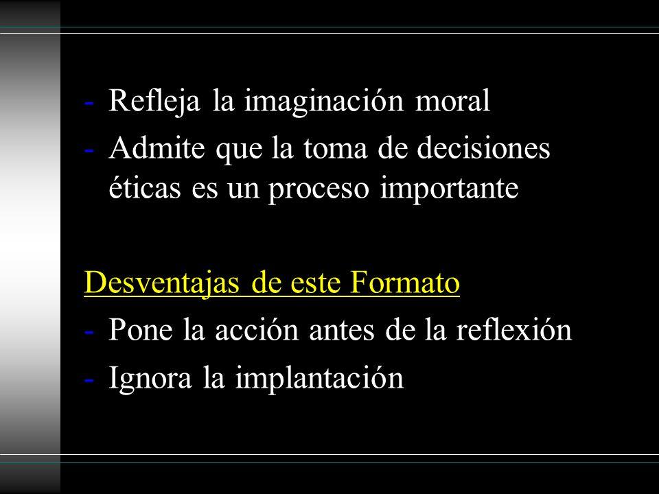 Refleja la imaginación moral