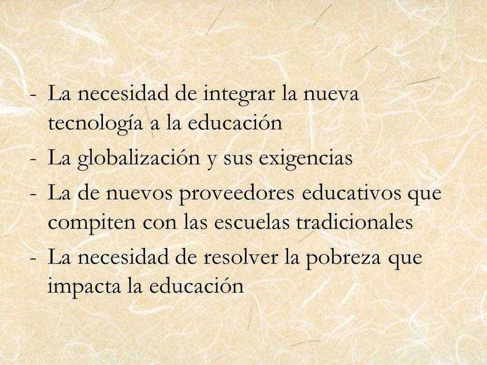La necesidad de integrar la nueva tecnología a la educación