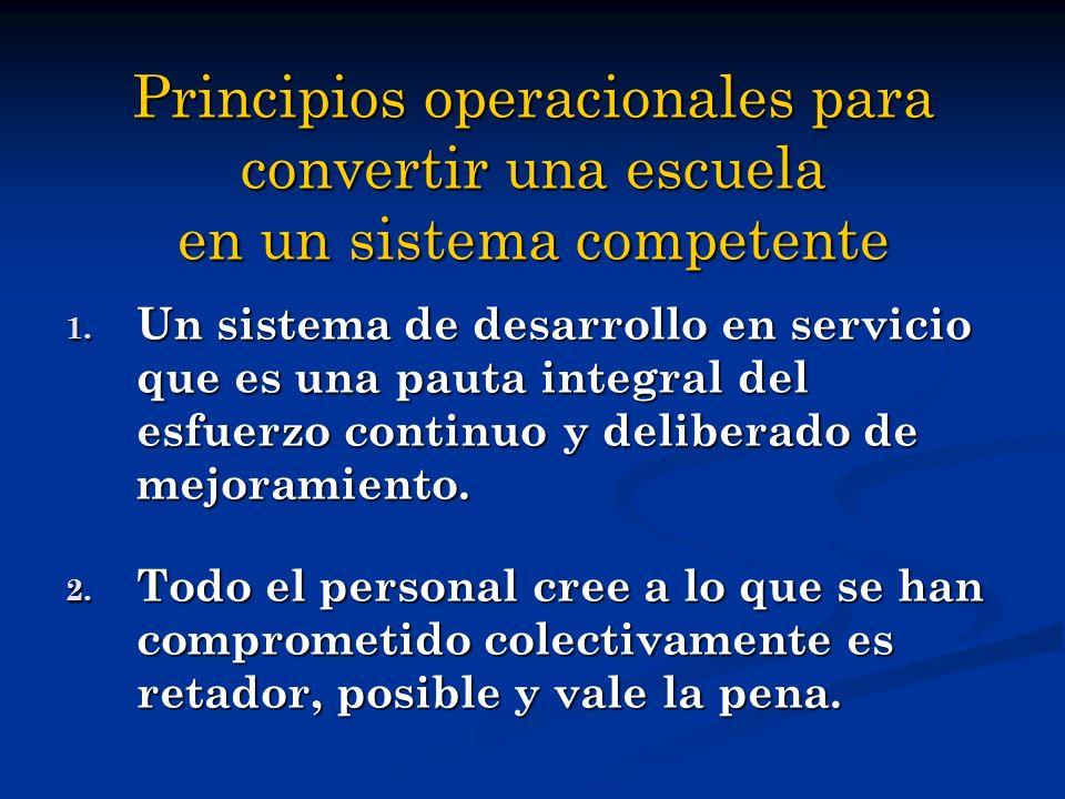 Principios operacionales para convertir una escuela en un sistema competente