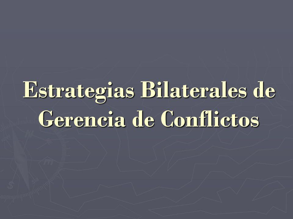 Estrategias Bilaterales de Gerencia de Conflictos