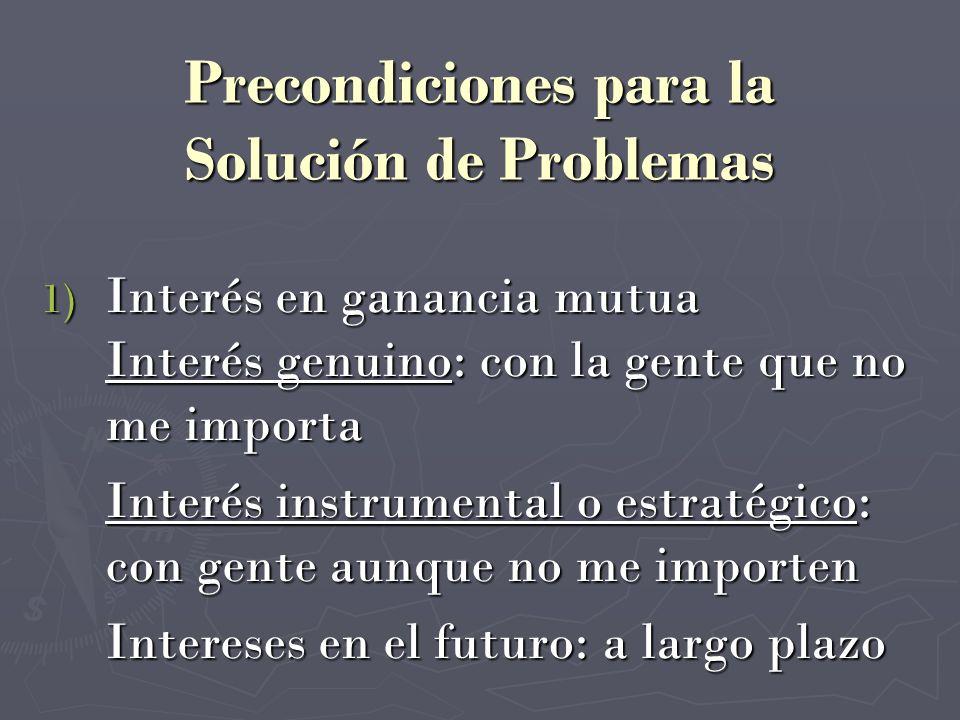 Precondiciones para la Solución de Problemas