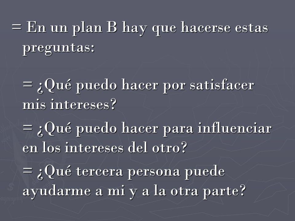 = En un plan B hay que hacerse estas preguntas: