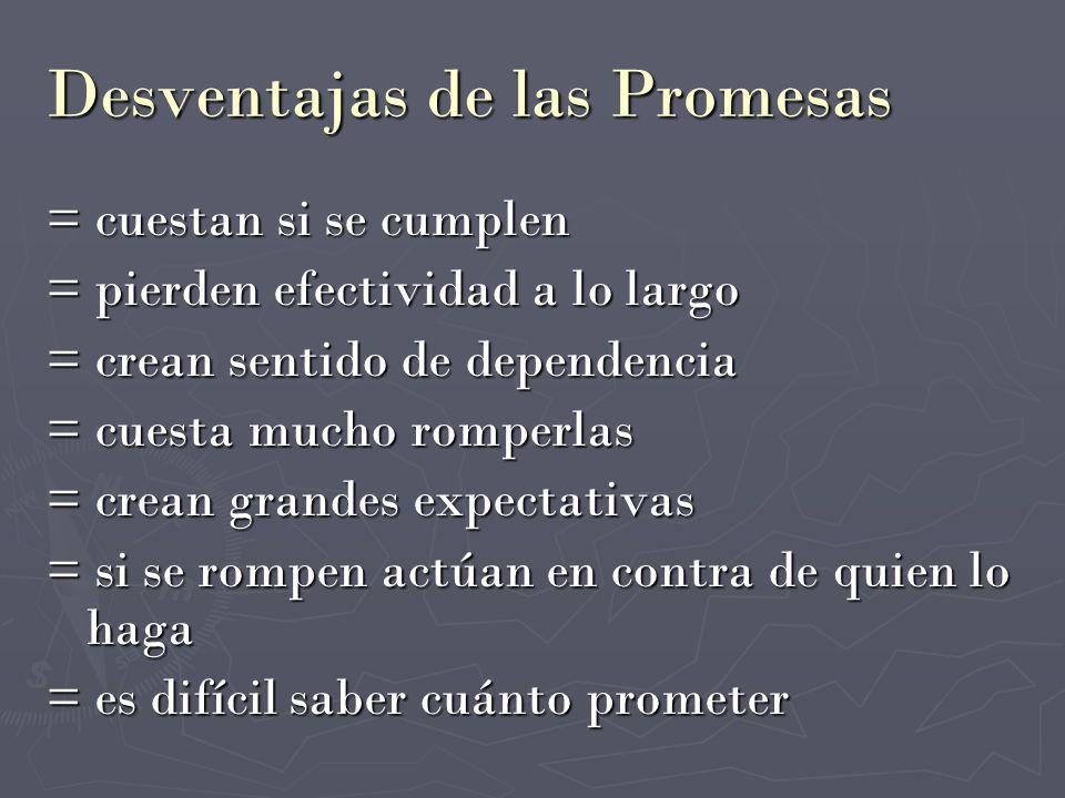 Desventajas de las Promesas