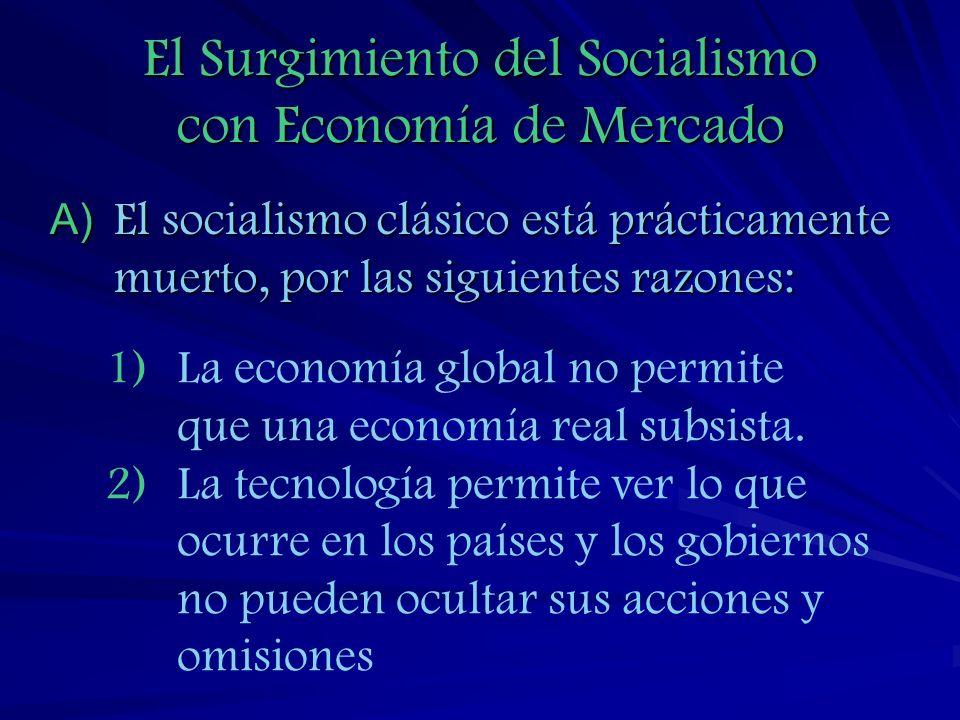 El Surgimiento del Socialismo con Economía de Mercado