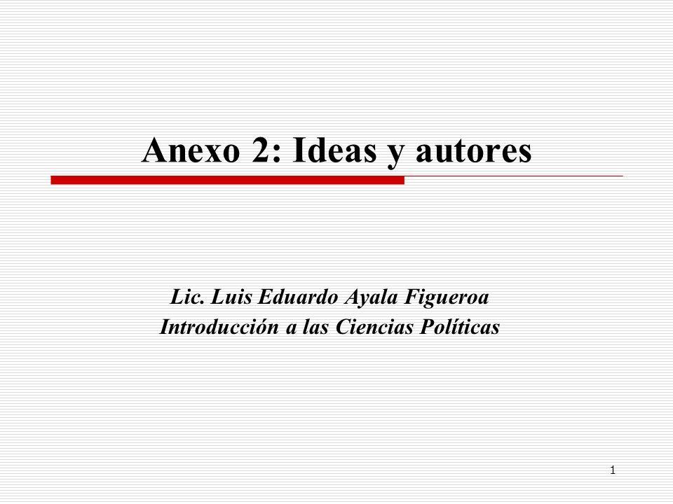 Lic. Luis Eduardo Ayala Figueroa Introducción a las Ciencias Políticas