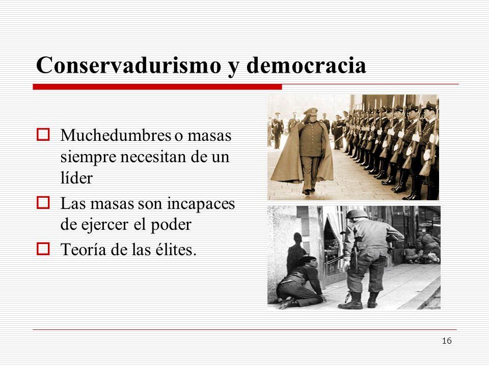 Conservadurismo y democracia
