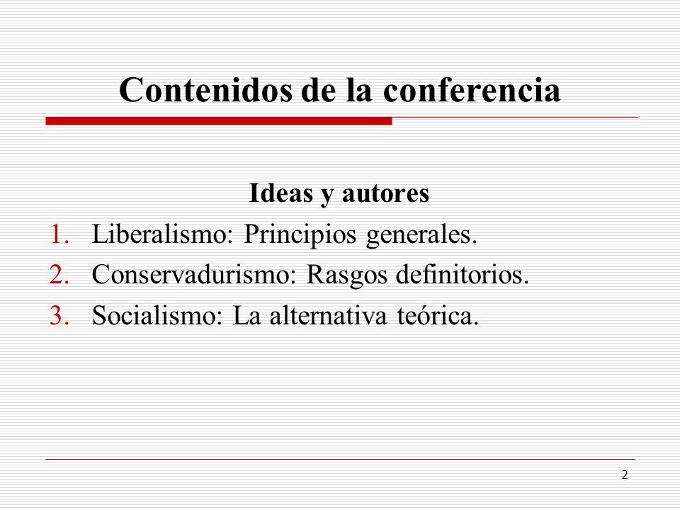 Contenidos de la conferencia