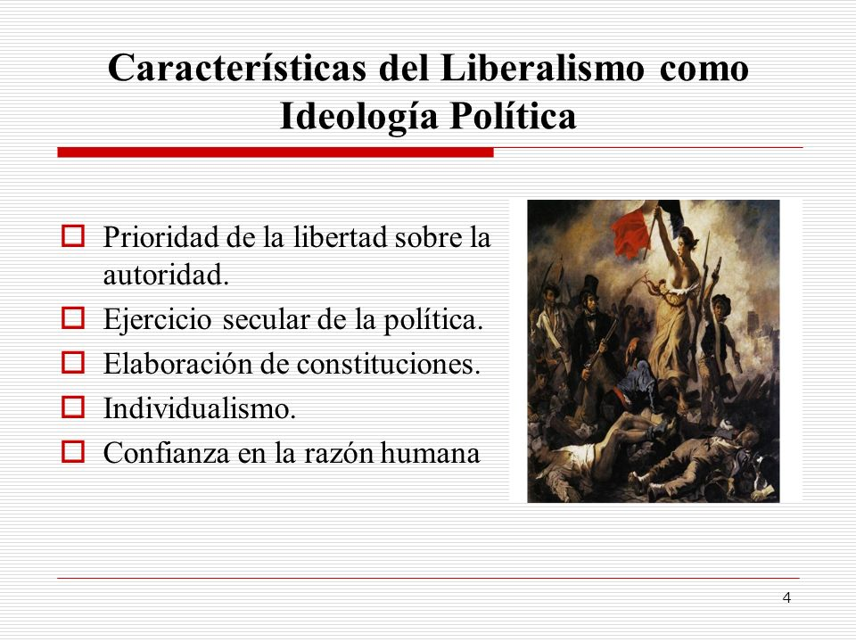 Características del Liberalismo como Ideología Política