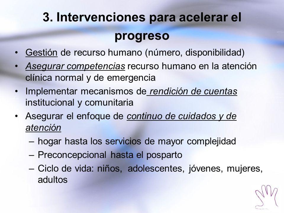 3. Intervenciones para acelerar el progreso
