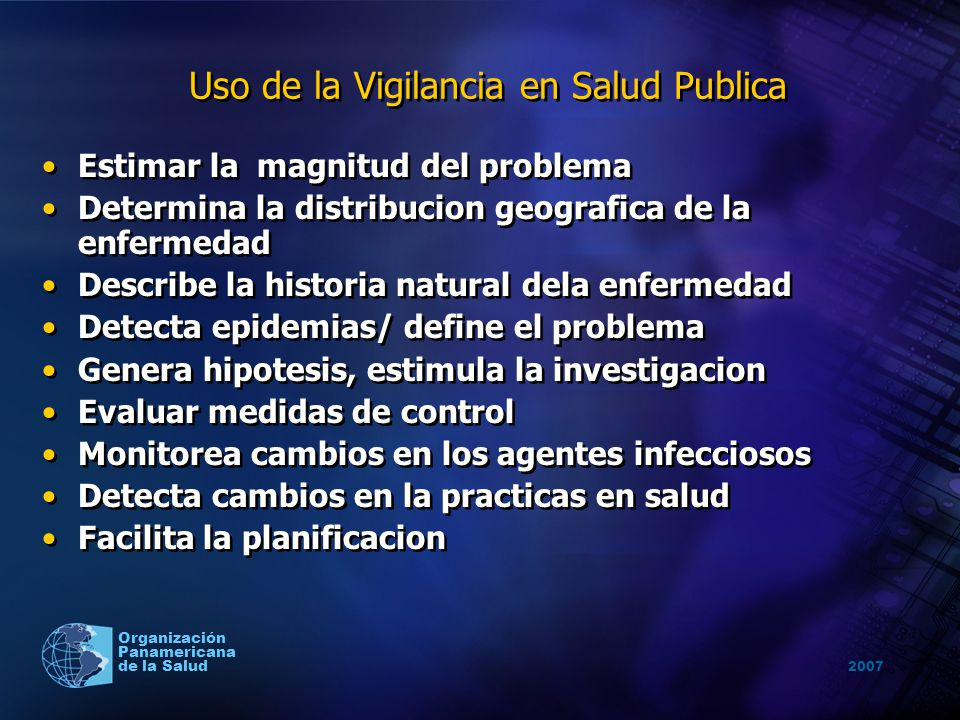 Uso de la Vigilancia en Salud Publica