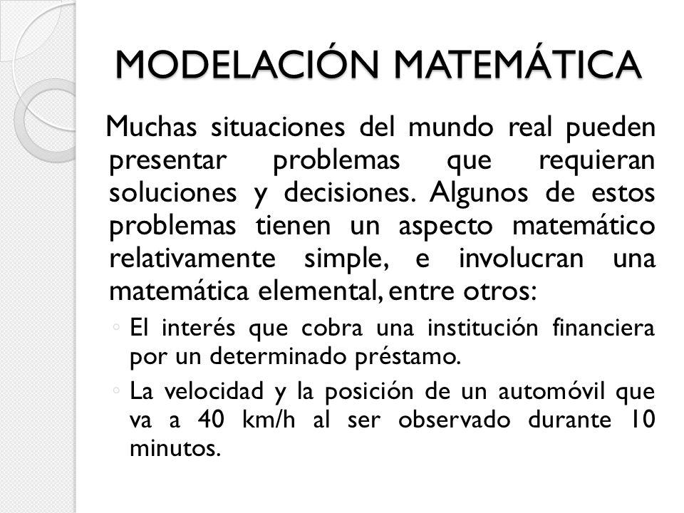 MODELACIÓN MATEMÁTICA