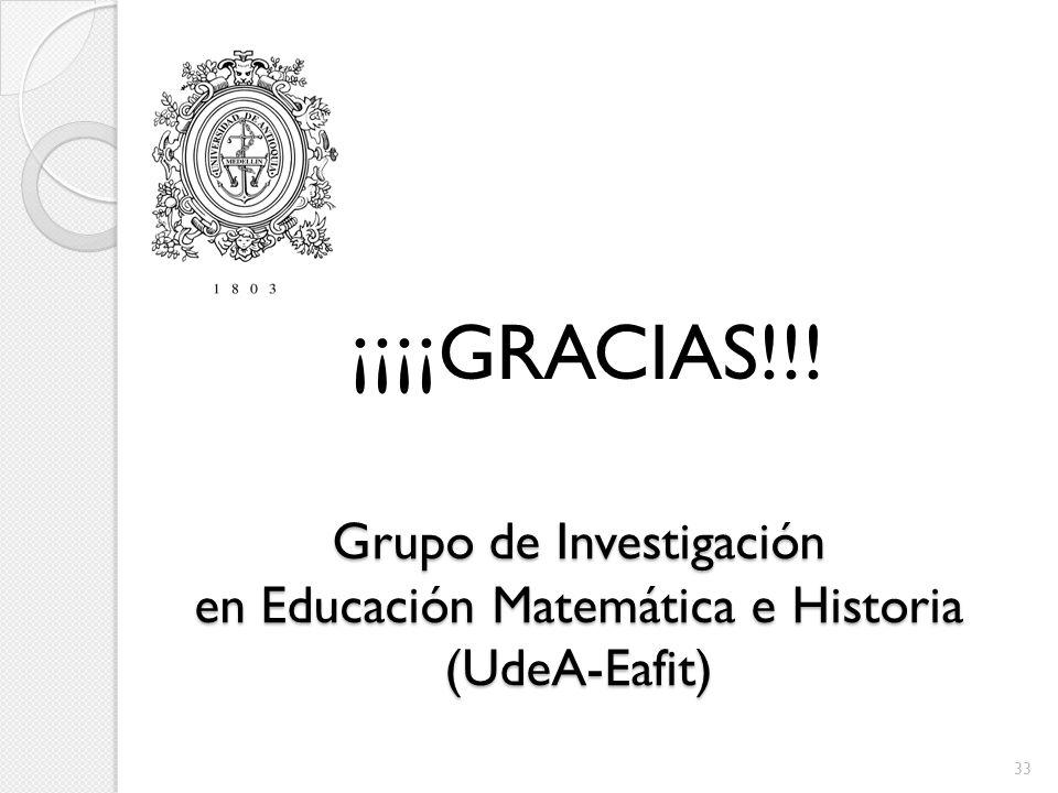 Grupo de Investigación en Educación Matemática e Historia (UdeA-Eafit)