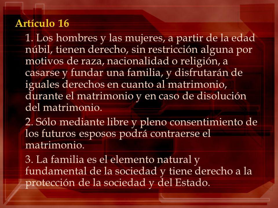 Artículo 16