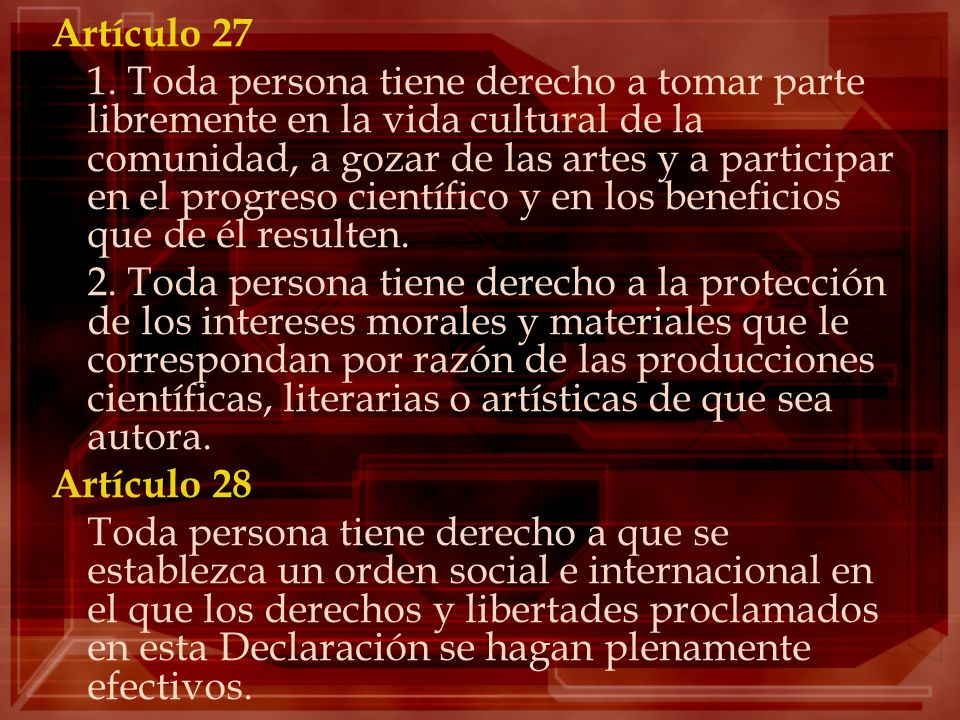 Artículo 27