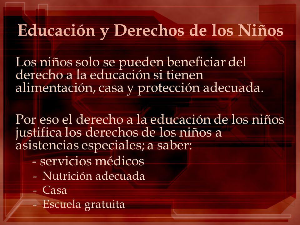 Educación y Derechos de los Niños