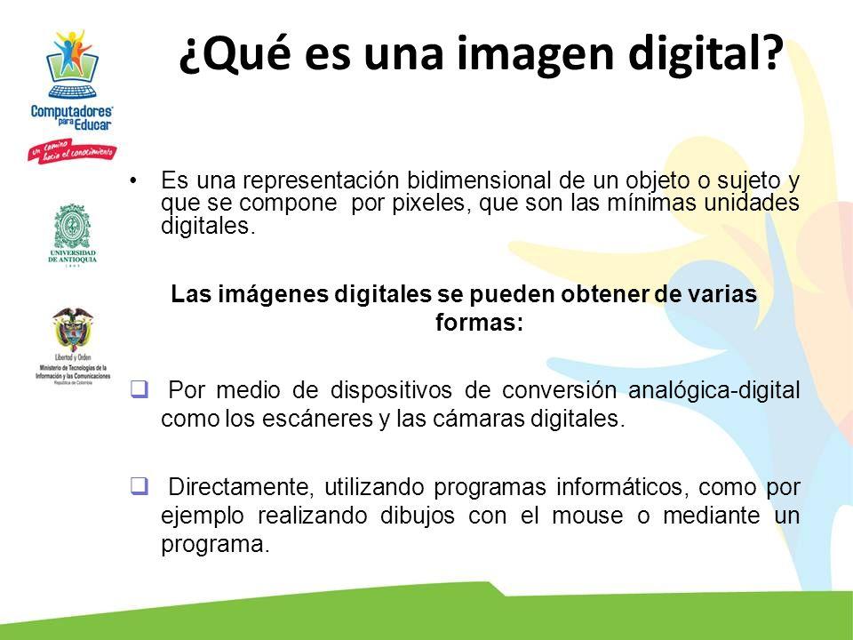 ¿Qué es una imagen digital