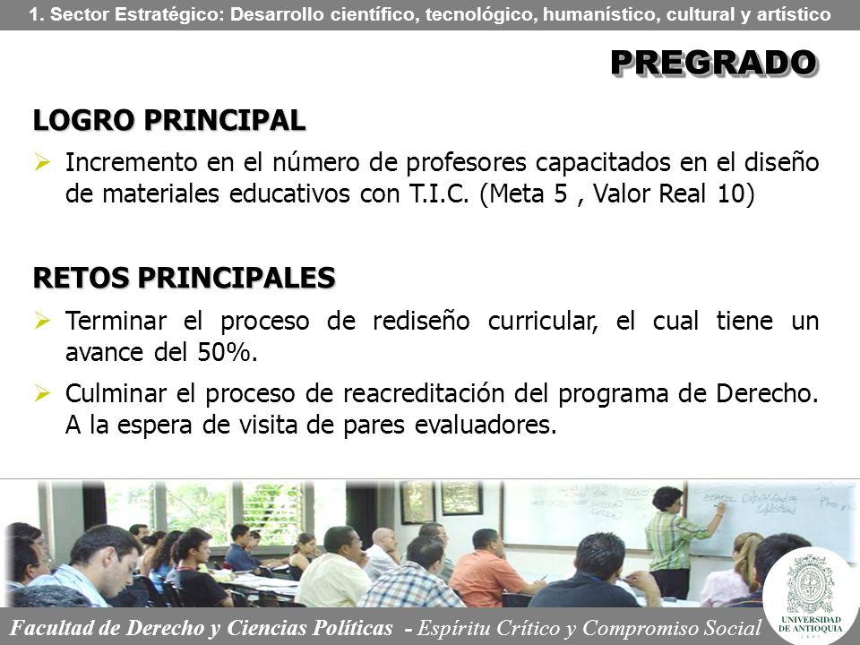 PREGRADO LOGRO PRINCIPAL RETOS PRINCIPALES