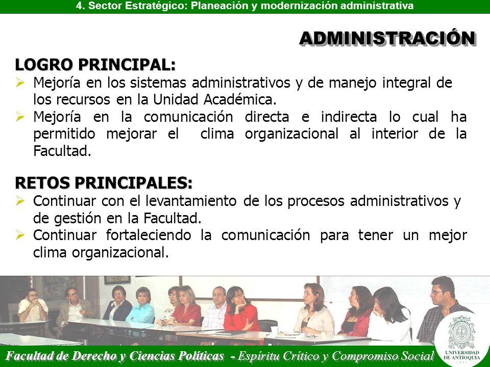 4. Sector Estratégico: Planeación y modernización administrativa