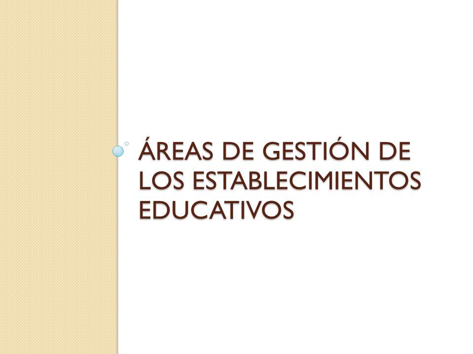 Áreas de gestión de los establecimientos educativos