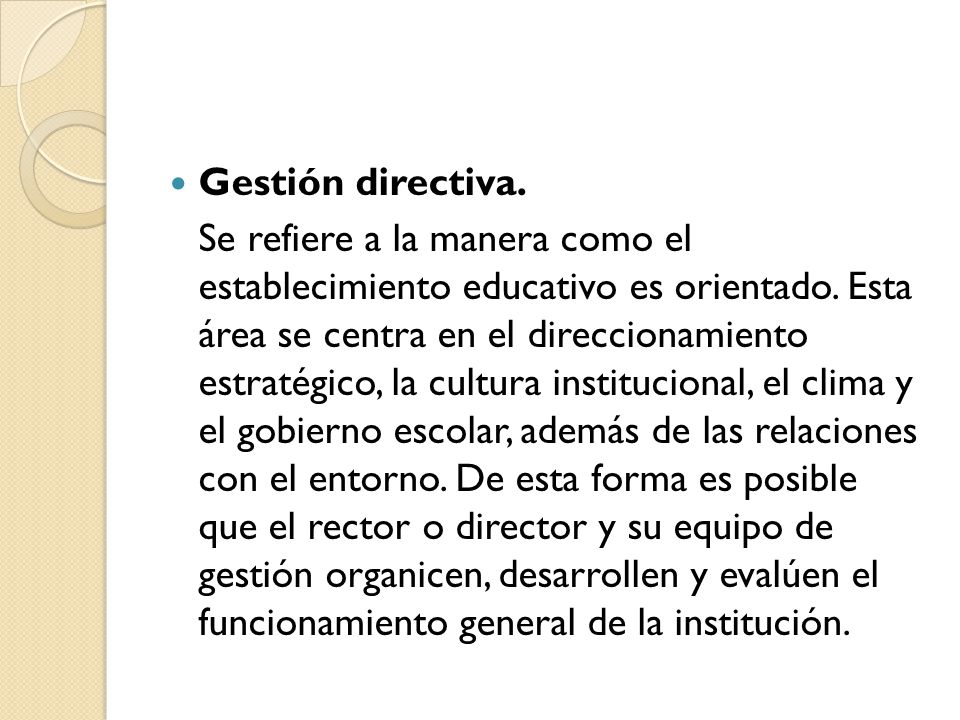 Gestión directiva.