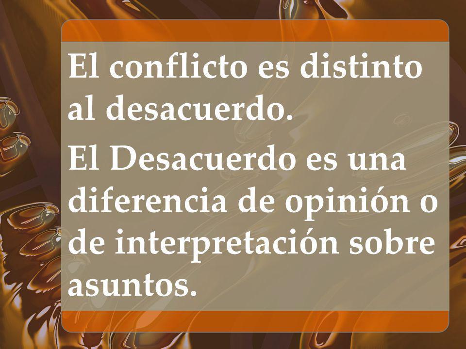 El conflicto es distinto al desacuerdo.