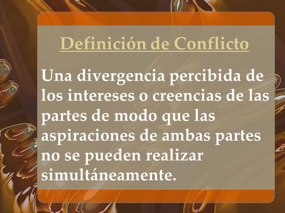 Definición de Conflicto