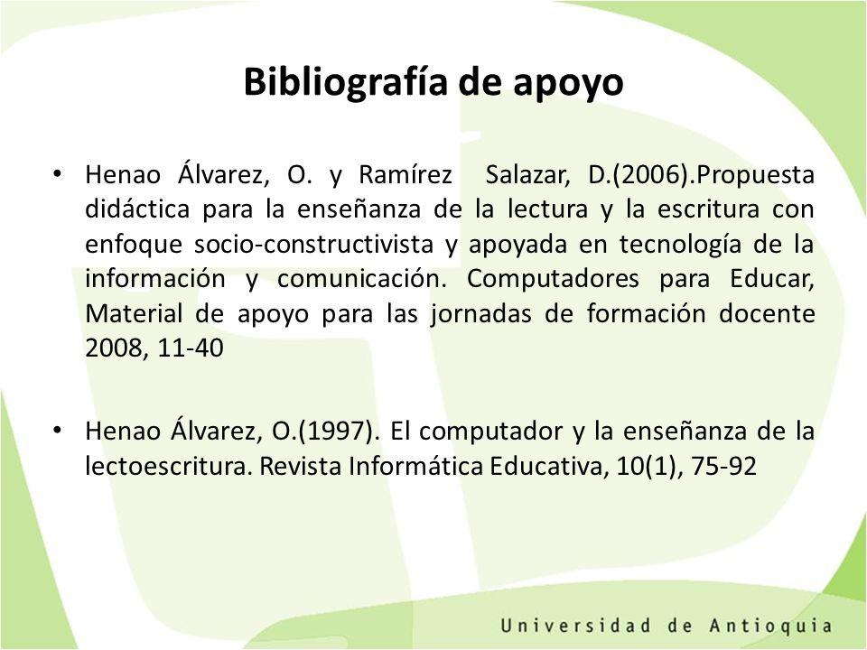 Bibliografía de apoyo