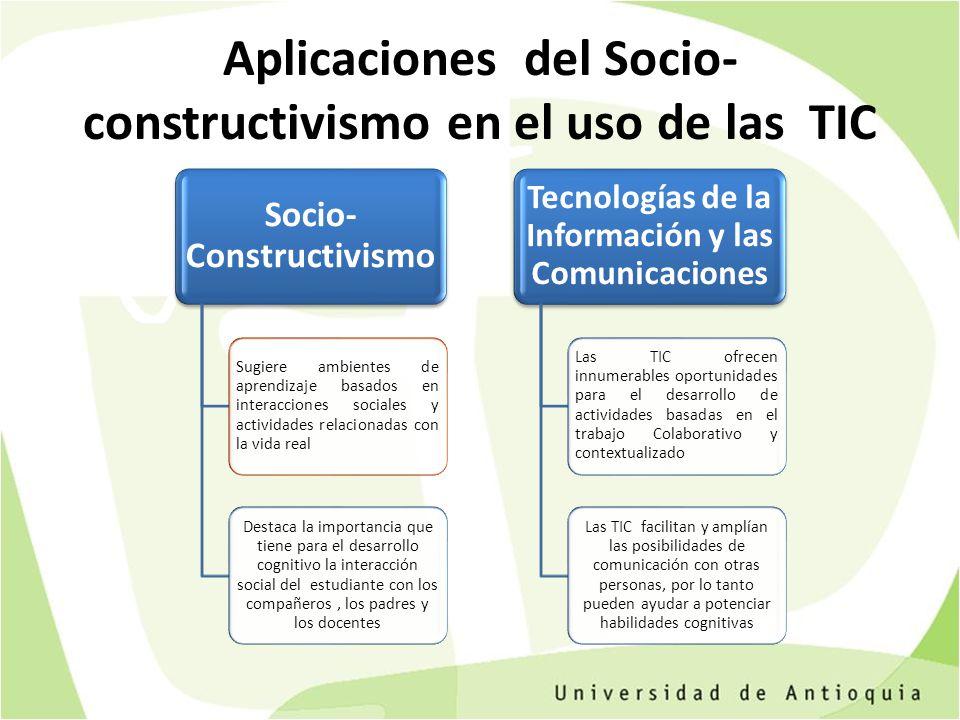 Aplicaciones del Socio-constructivismo en el uso de las TIC
