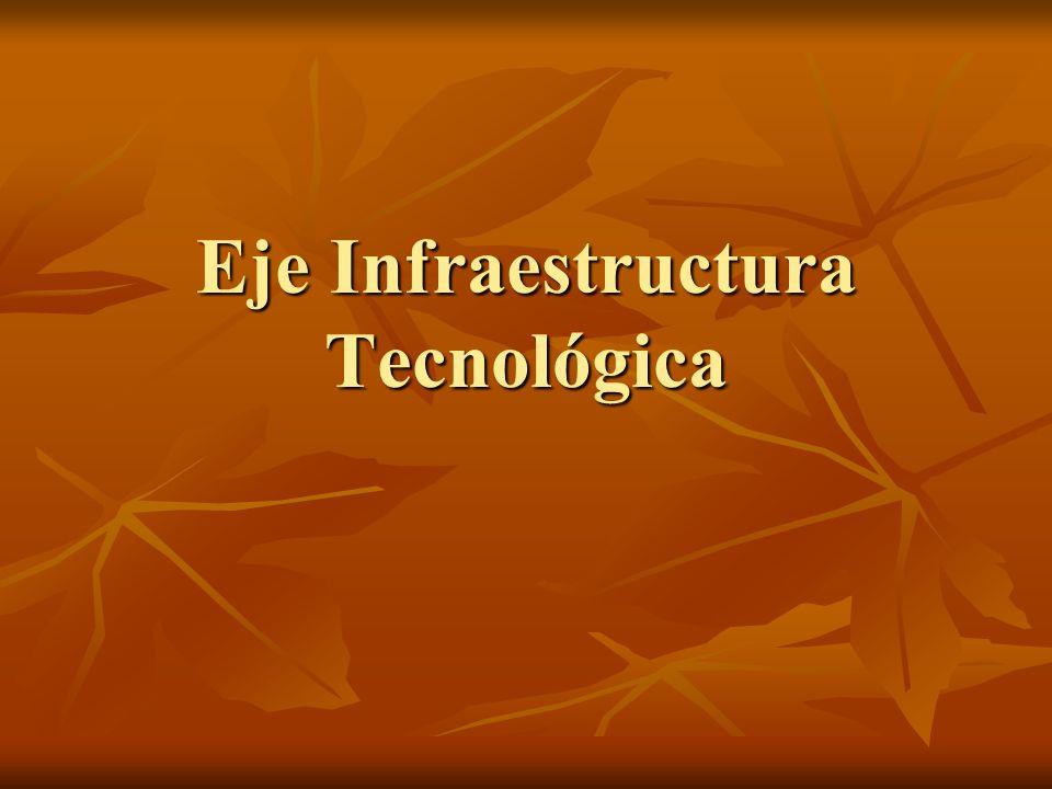 Eje Infraestructura Tecnológica