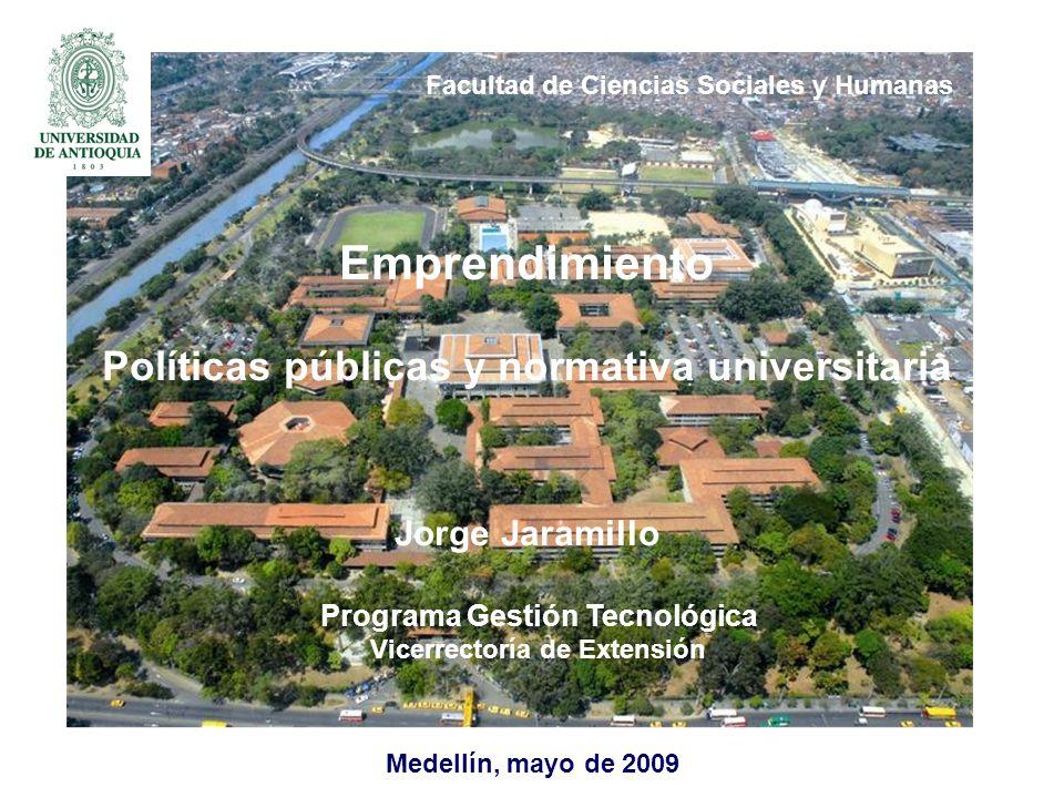 Emprendimiento Políticas públicas y normativa universitaria