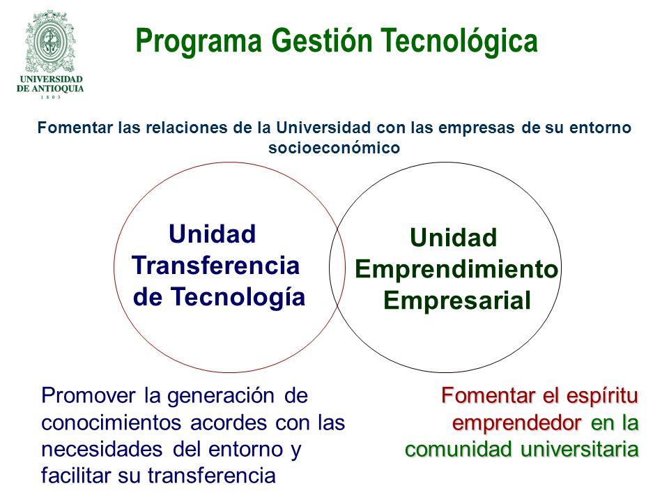 Programa Gestión Tecnológica