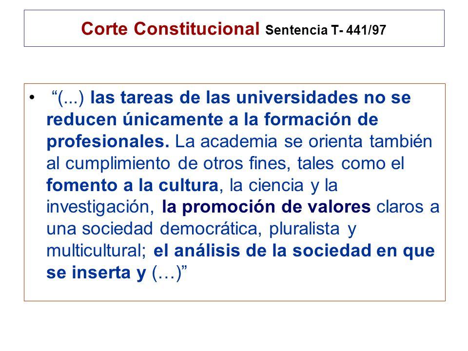 Corte Constitucional Sentencia T- 441/97