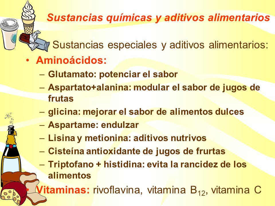 Sustancias químicas y aditivos alimentarios