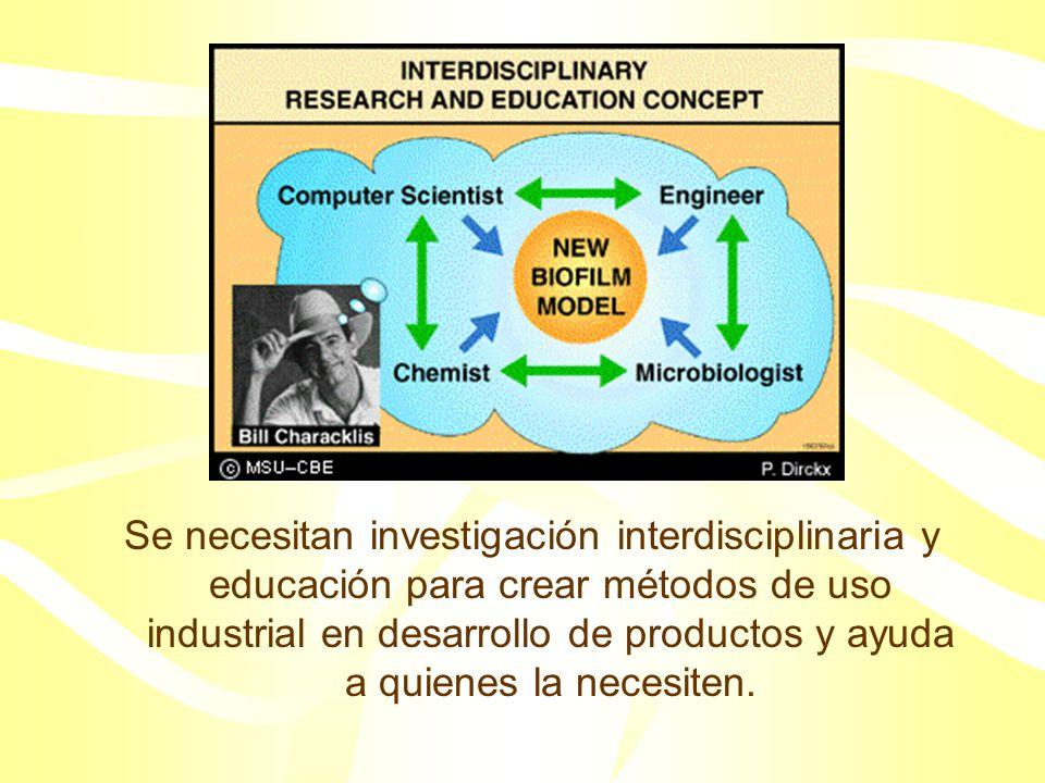 Se necesitan investigación interdisciplinaria y educación para crear métodos de uso industrial en desarrollo de productos y ayuda a quienes la necesiten.
