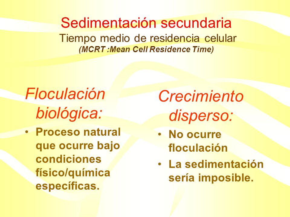 Floculación biológica: Crecimiento disperso:
